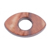 Shell Oval With Center Hole 15x25mm Light Copper